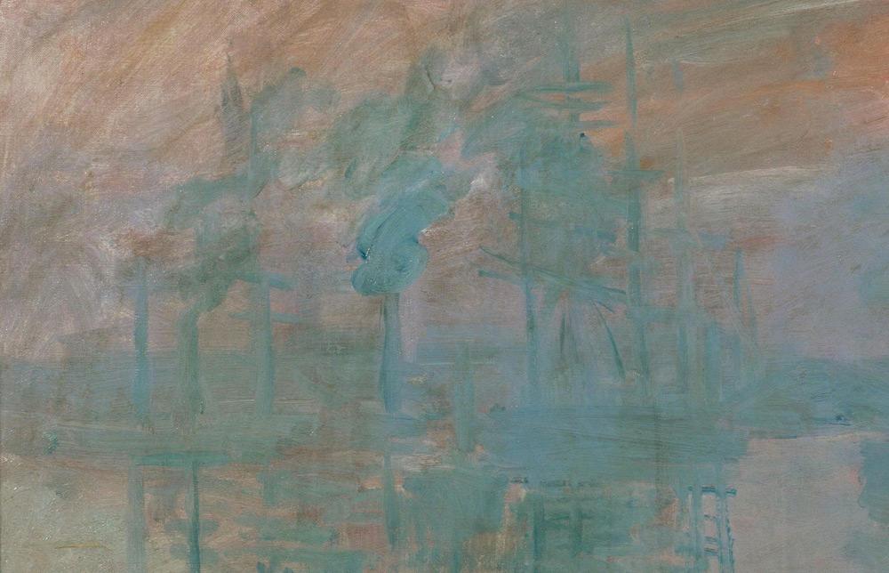 Claude Monet, Impression: soleil levant, dettaglio