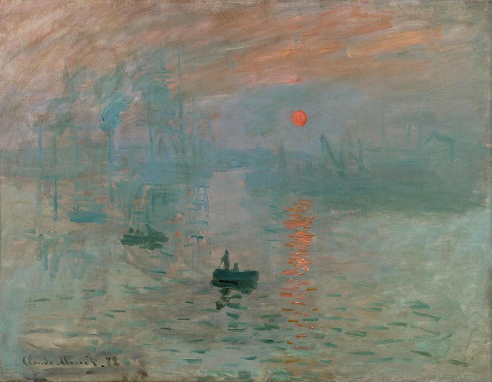 Claude Monet, Impression: soleil levant (1872; olio su tela, 48 x 63 cm; Parigi, Musée Marmottan Monet)