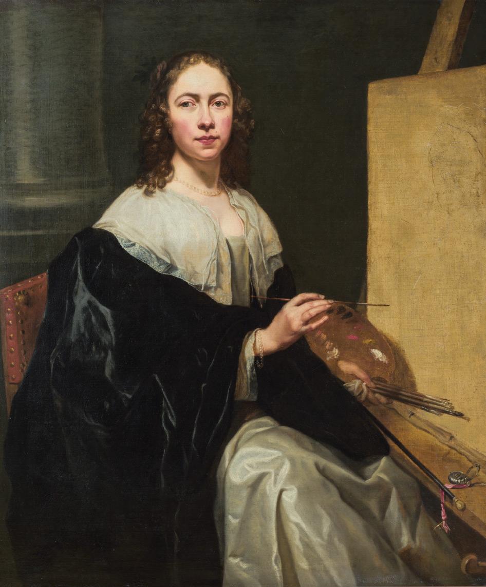 Michaelina Wautier, Autoritratto (1650 circa; olio su tela, 120 x 102 cm; Collezione privata)