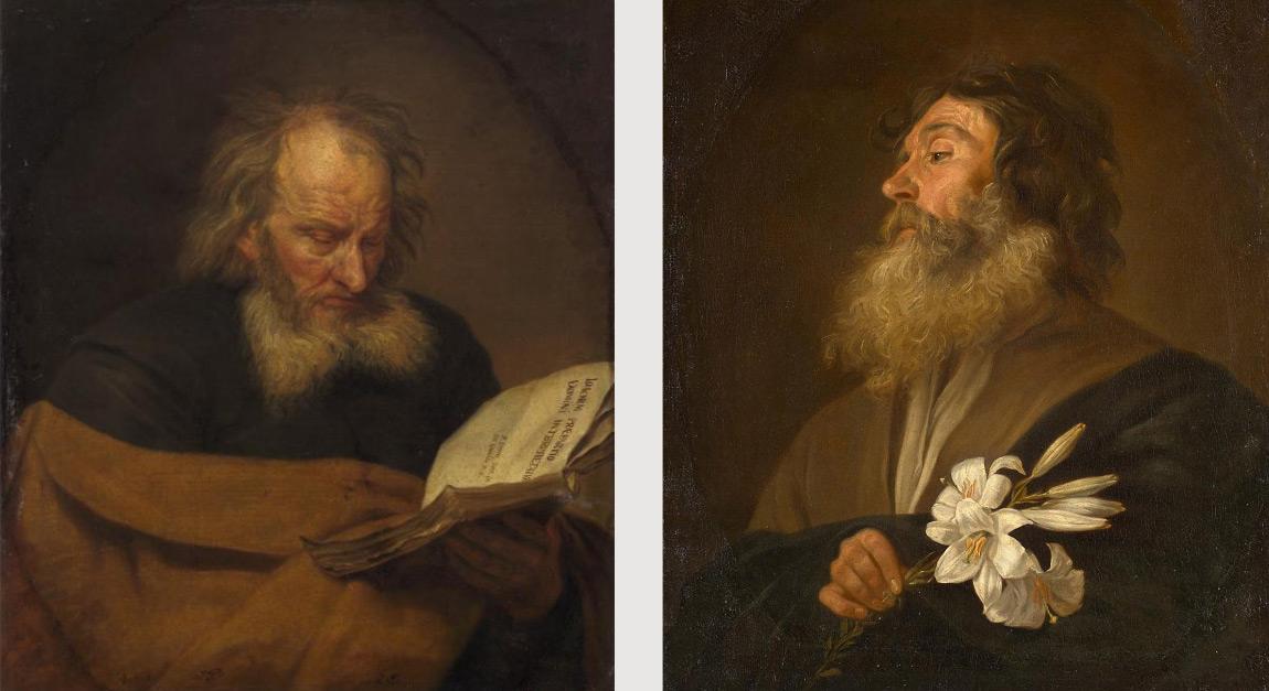 Michaelina Wautier, San Gioacchino e San Giuseppe (entrambi prima del 1659; olio su tela, 76 x 66 cm; Vienna, Kunsthistorisches Museum)