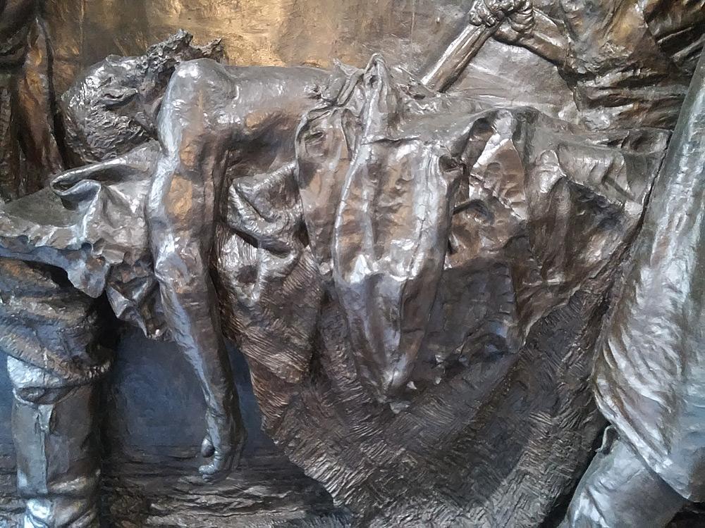 Vincenzo Vela, Monumento alle vittime del lavoro, il lavoratore morto