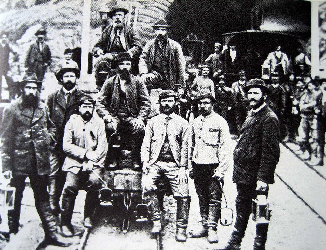 Operai del San Gottardo ad Airolo (1880)