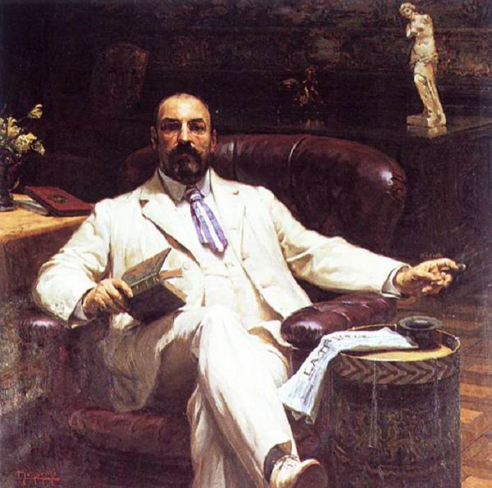 Luigi De Servi, Ritratto di Ewan Mackenzie (1902; olio su tela, 136,5 x 136,5 cm; Genova, Galleria d'Arte Moderna)