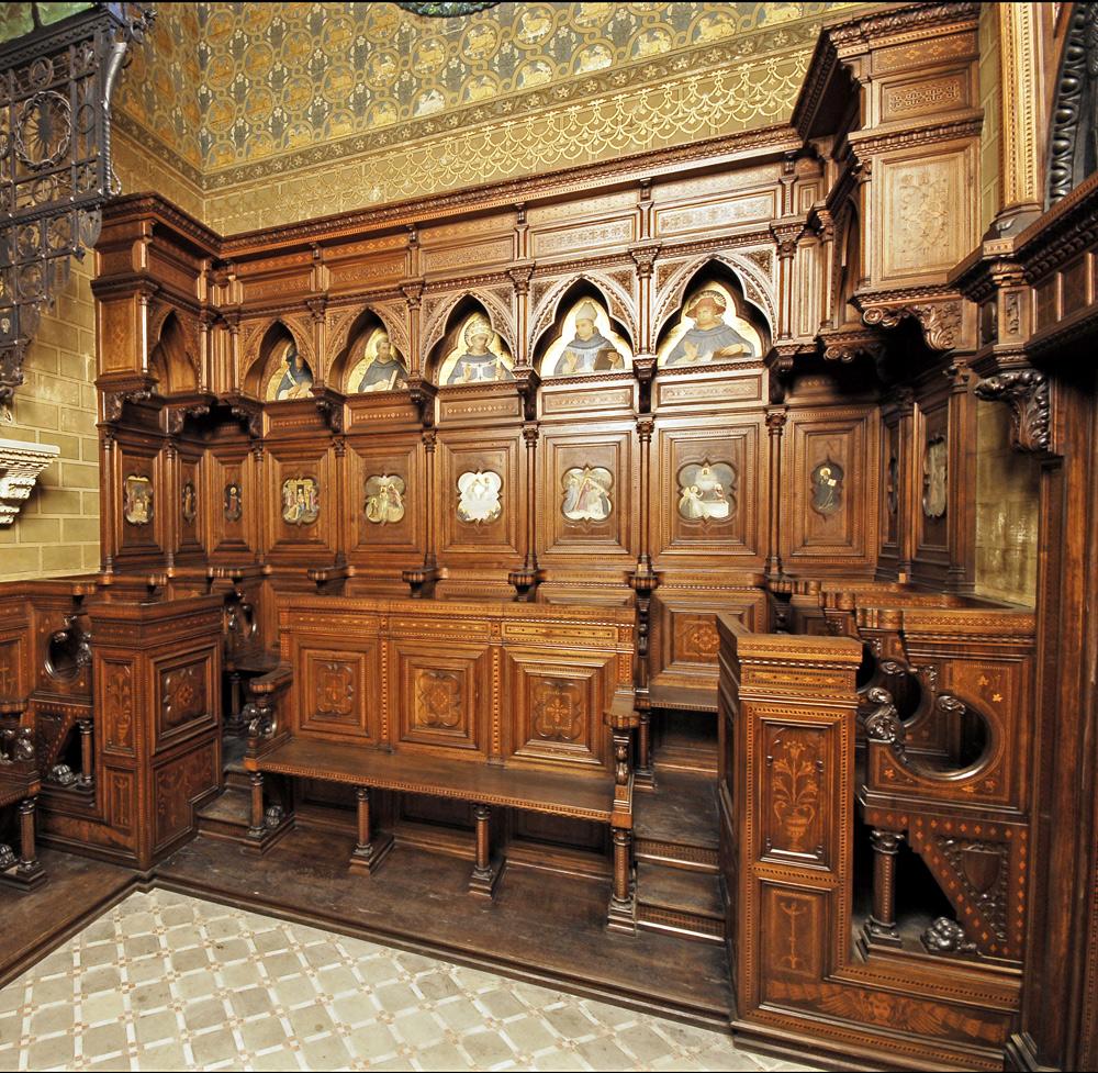 Gli stalli lignei della cappella
