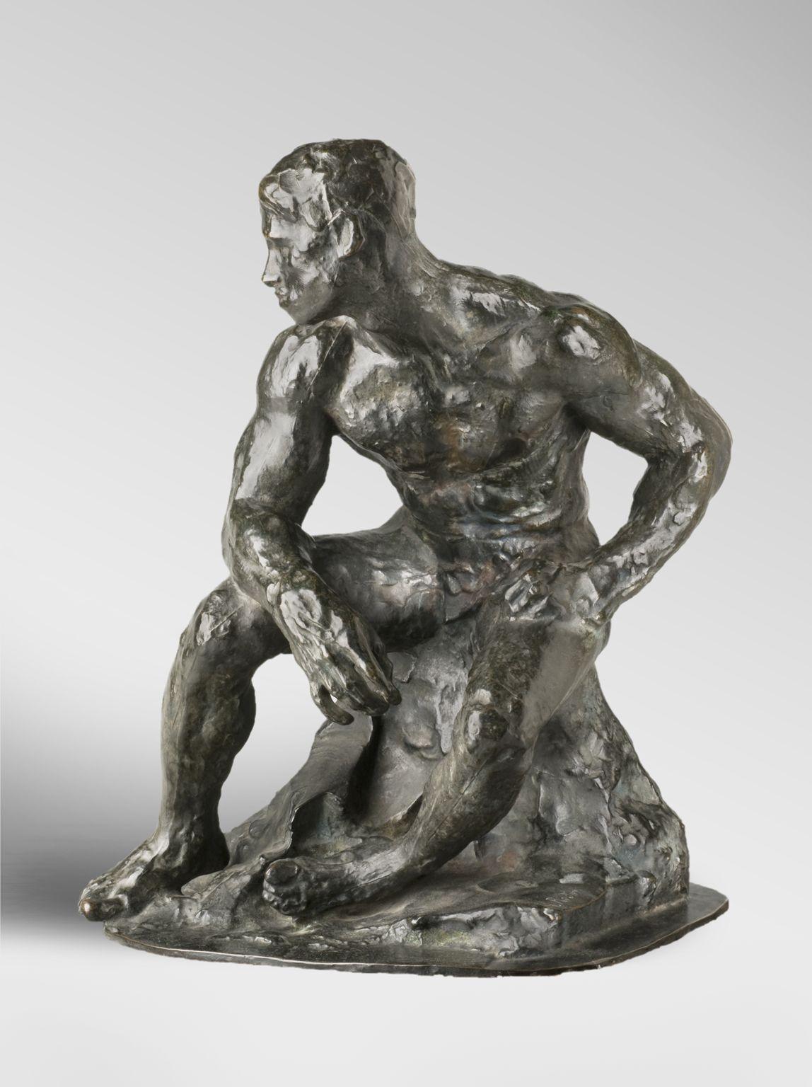 Auguste Rodin, Atleta (1901, fuso nel 1925; bronzo, 42,9 x 31,8 x 28,6 cm; Filadelfia, Philadelphia Museum of Art)