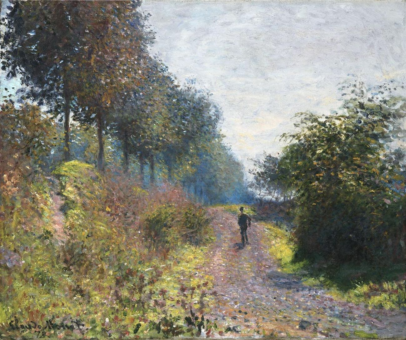 Claude Monet, Sentiero riparato (1873; olio su tela, 54,1 x 65,7 cm; Filadelfia, Philadelphia Museum of Art)