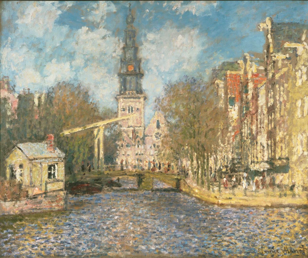 Claude Monet, La Zuiderkerk di Amsterdam (1874 circa; olio su tela, 54,4 x 65,4 cm; Filadelfia, Philadelphia Museum of Art)