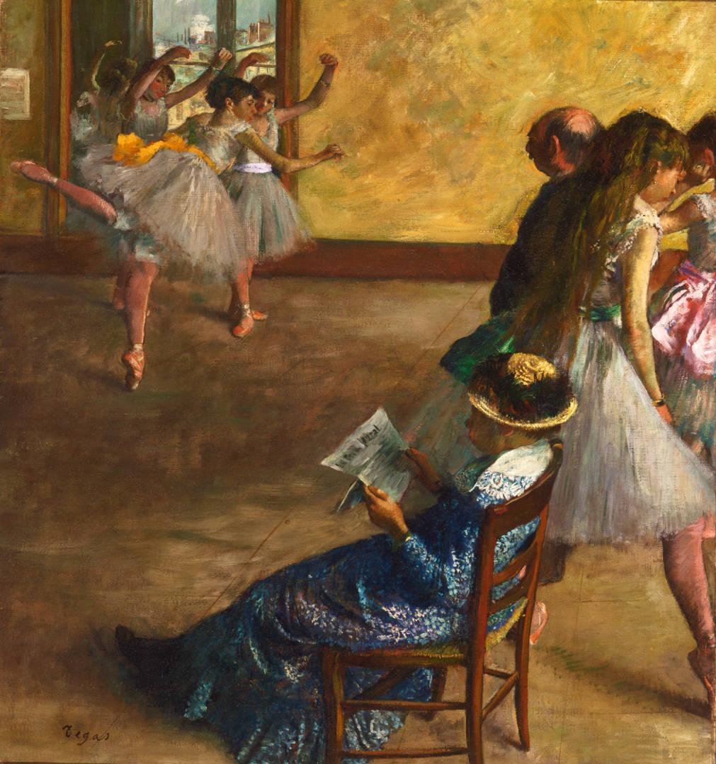 Edgar Degas, La classe di danza (1880 circa; olio su tela, 82,2 x 76,8 cm; Filadelfia, Philadelphia Museum of Art)
