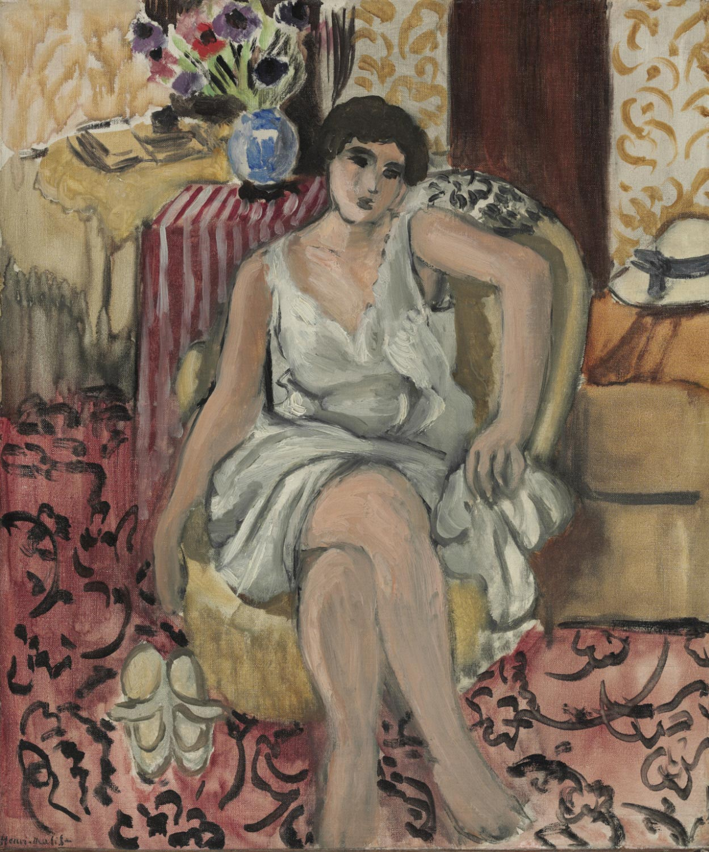 Henri Matisse, Donna seduta in poltrona (1920; olio su tela, 46,4 x 39,4 cm; Filadelfia, Philadelphia Museum of Art)