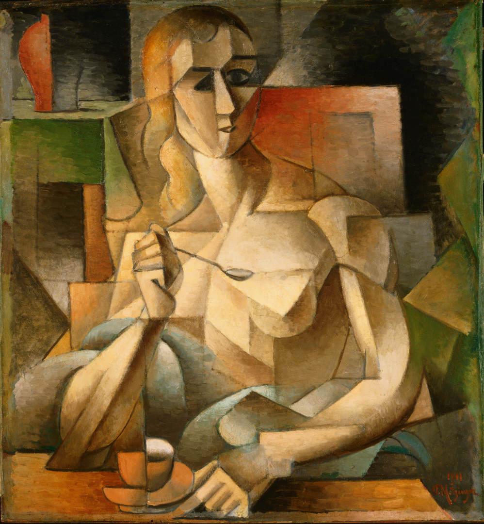 Jean Metzinger, L'ora del tè (1911; olio su cartone, 75,9 x 70,2 cm; Filadelfia, Philadelphia Museum of Art)