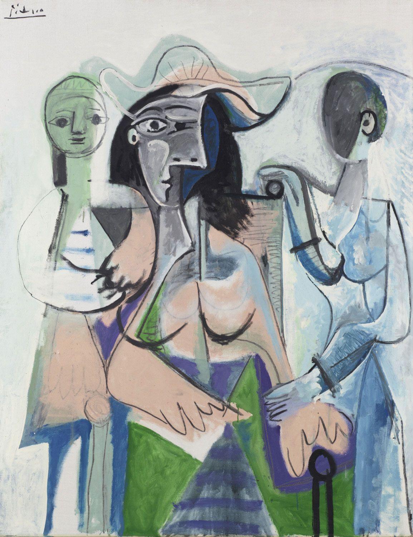 Pablo Picasso, Donne e bambine (1961; olio su tela, 146 x 113,7 cm; Filadelfia, Philadelphia Museum of Art)