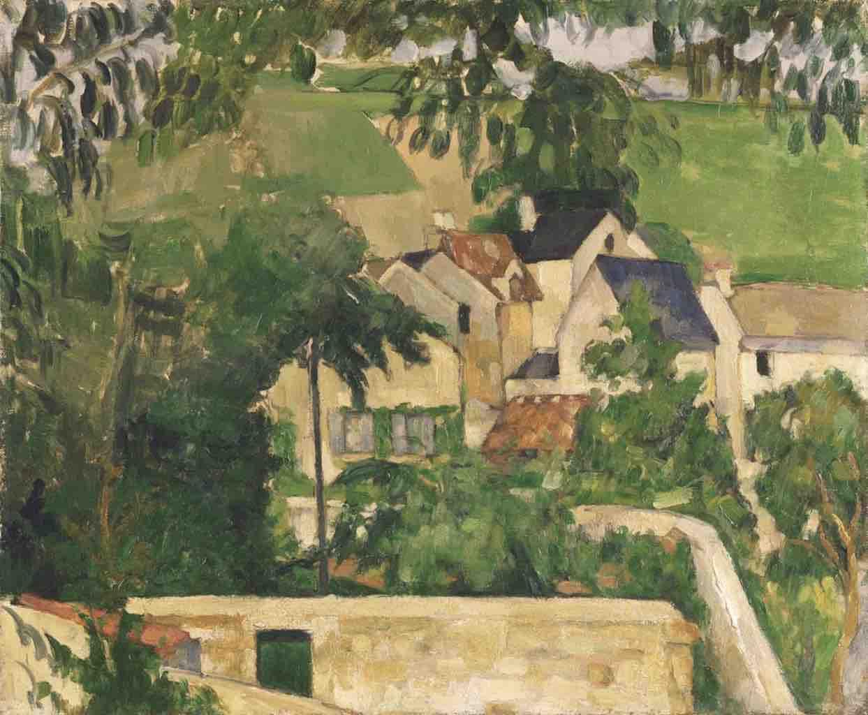 Paul Cézanne, Le Quartier du Four à Auvers-sur-Oise (Paesaggio, Auvers) (1873 circa; olio su tela, 46,4 x 55,2 cm; Filadelfia, Philadelphia Museum of Art)