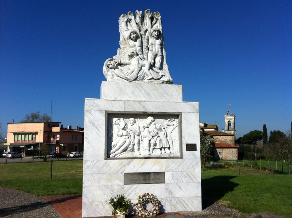 Larciano, Lo Stupore di Gino Terreni, il monumento alle vittime dell'eccidio del Padule di Fucecchio. Ph. Credit Matteo Grasso - Istituto Storico della Resistenza di Pistoia