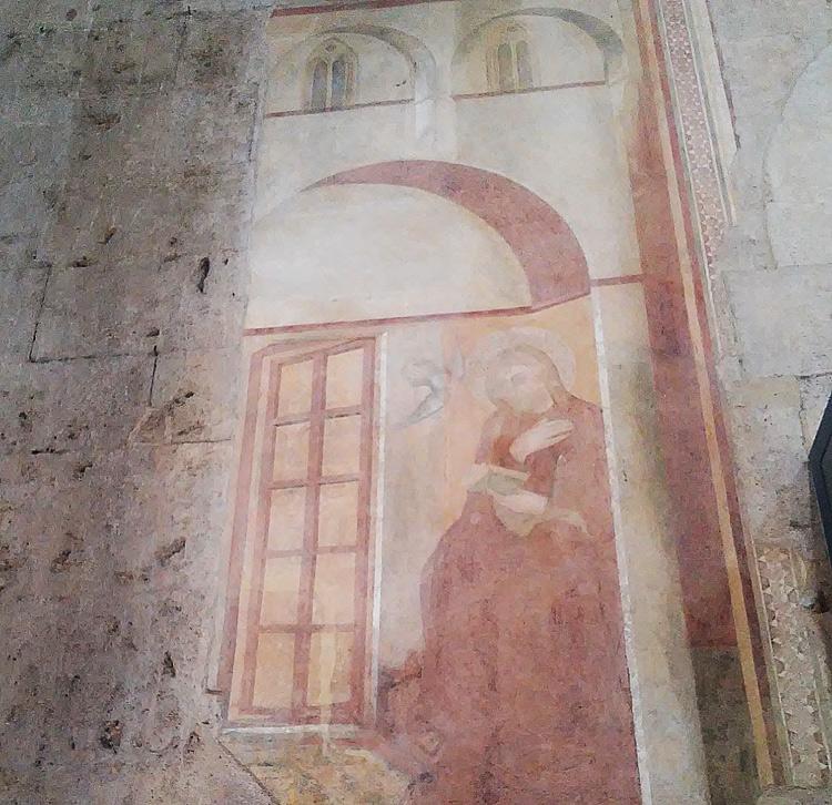Ambrogio Lorenzetti, Annunciazione (1340 circa; affresco; Massa Marittima, Cattedrale di San Cerbone)