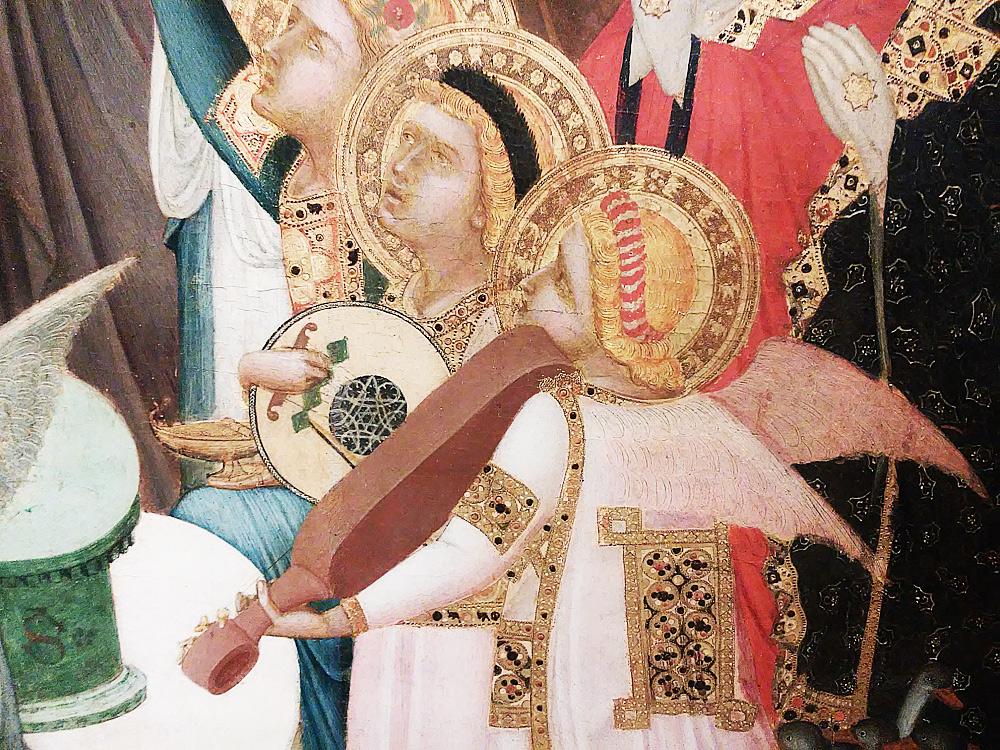 Maestà di Massa Marittima, gli angeli musicanti