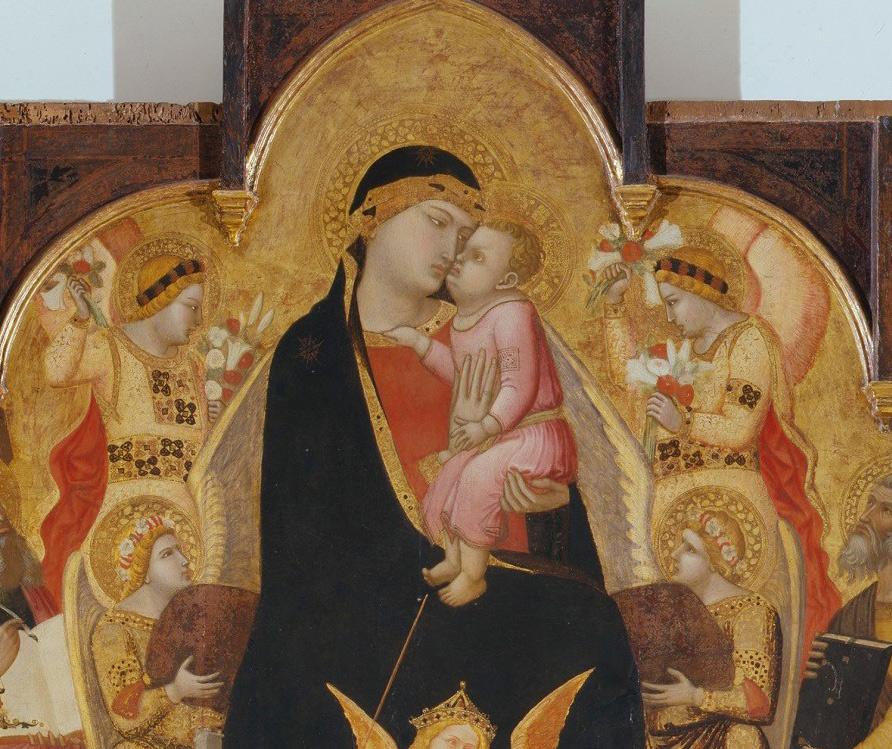Maestà di Massa Marittima, la Madonna, il Bambino e gli angeli