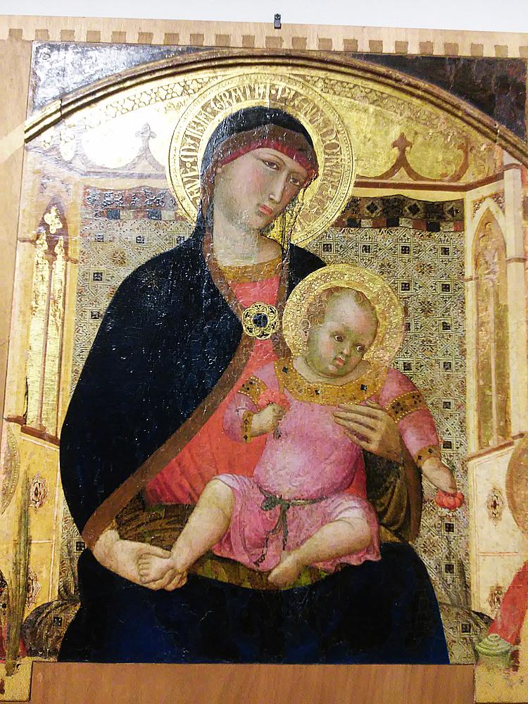 Polittico di Roccalbegna, la Madonna col Bambino
