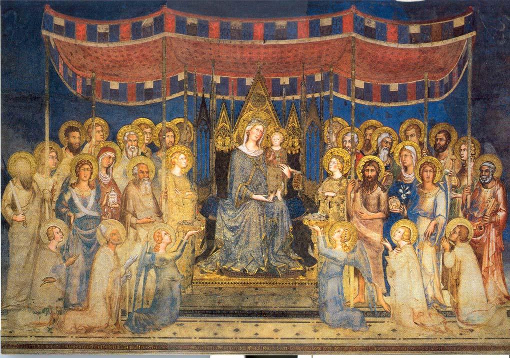 Simone Martini, Maestà (1315; affresco, 763 x 970 cm; Siena, Palazzo Pubblico)