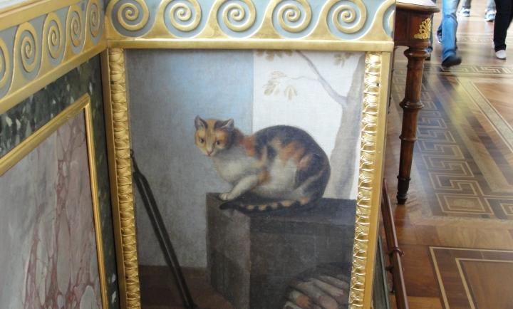 All'Hermitage i gatti sono anche dipinti sui muri