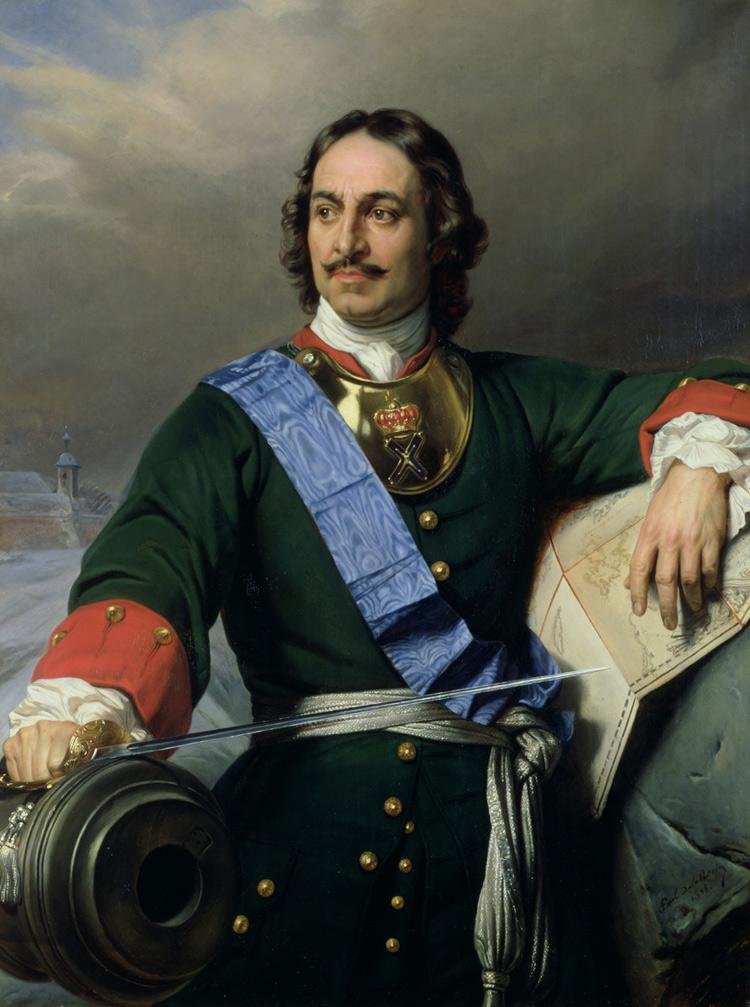 Hyppolite Delaroche, Ritratto postumo di Pietro il Grande (1838; olio su tela, 130,6 x 97 cm; Amburgo, Kunsthalle)