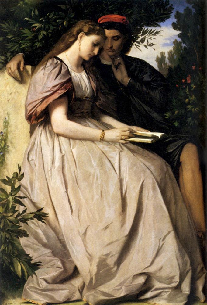 Anselm Feuerbach, Paolo e Francesca (1863-1864; olio su tela, 137 x 99,5 cm; Monaco di Baviera, Schackgalerie)