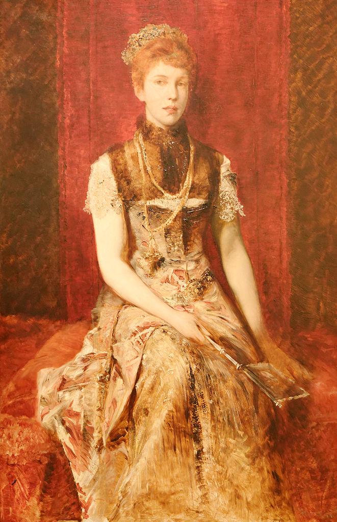 Hans Makart, Ritratto di Dora Fournier Gabillon (1879-1880; olio su tela, 145,5 x 93 cm; Vienna, Museen der Stadt)