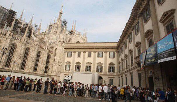 Code a Palazzo Reale per una mostra. Ph. Credit Comune di Milano