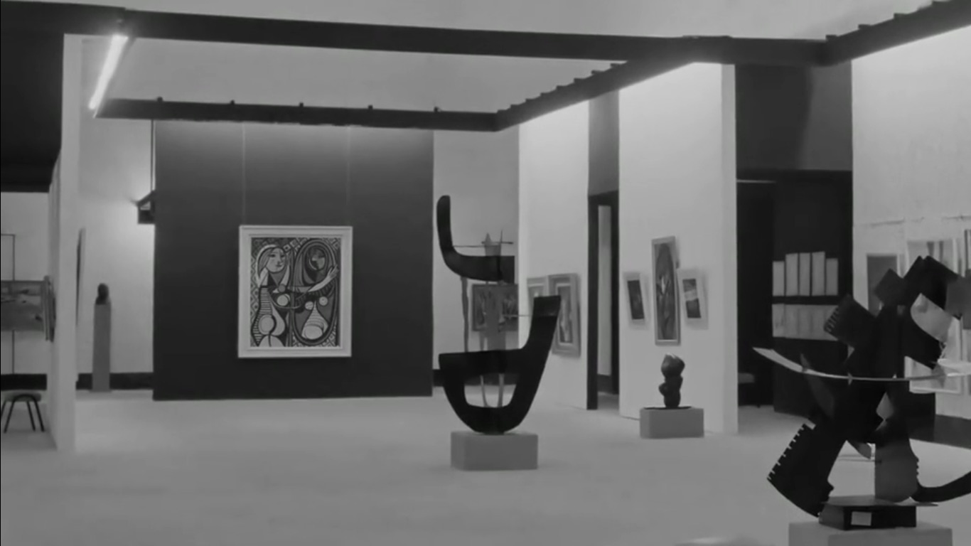 Una sala della Documenta 1 del 1955