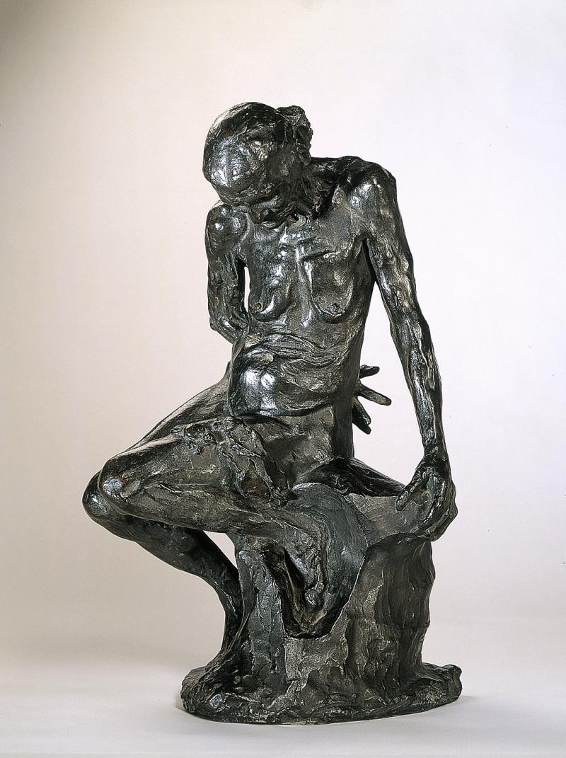 Auguste Rodin, Celle qui fut la belle heaulmière (1887; bronzo, 50 x 30 x 26 cm; Parigi, Musée Rodin