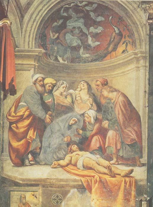 Giovanni Antonio de' Sacchis detto il Pordenone, Deposizione (1520-1521; affresco; Cremona, Duomo)