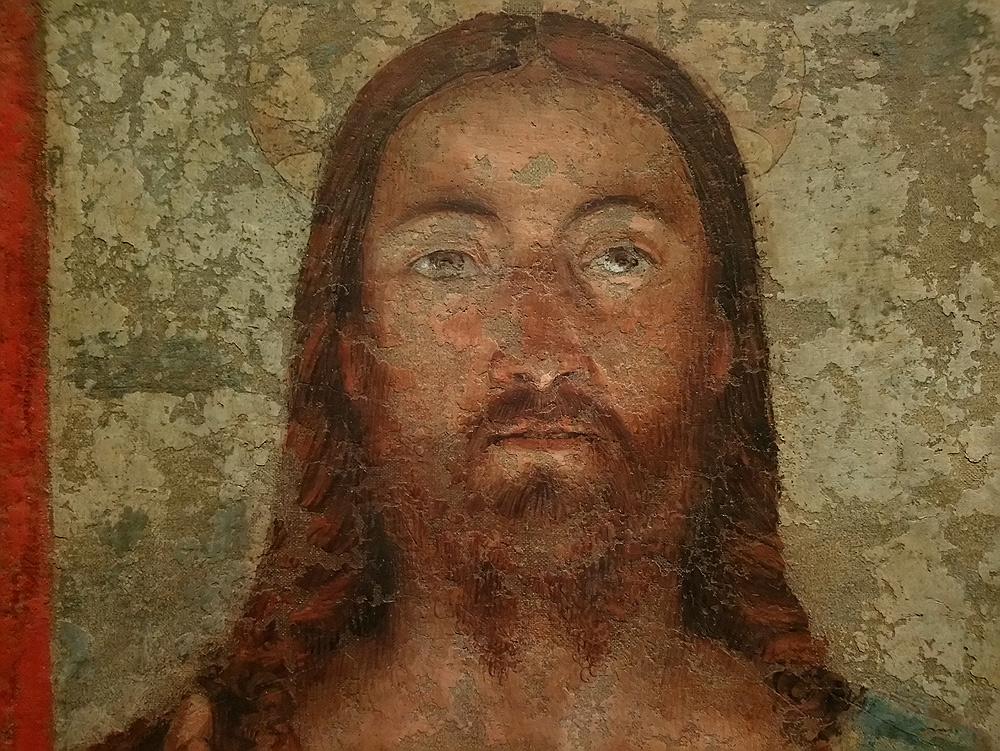 Melozzo da Forlì, Salvator Mundi (1475-1485; affresco staccato riportato su tela; Perugia, Galleria Nazionale dell'Umbria)