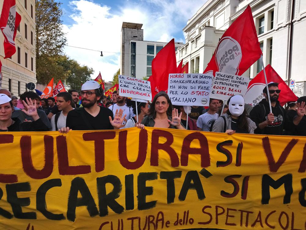 Momenti della manifestazione per la cultura del 6 ottobre
