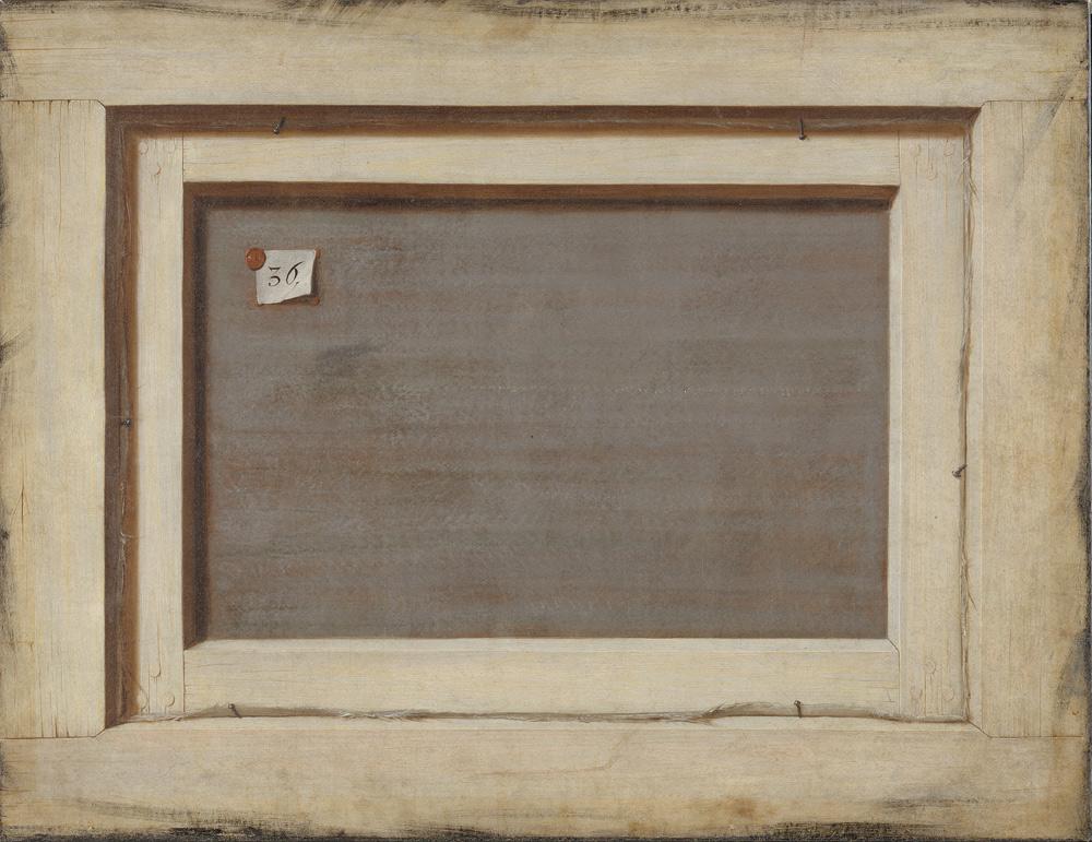 Cornelius Norbertus Gijsbrechts, Trompe l'oeil. The Reverse of a Framed Painting (1670-1675; olio su tela, 66,4 x 87 cm; Copenaghen, Museo Nazionale di Copenaghen). In mostra è presente la riproduzione