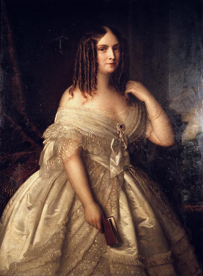 Giuseppe Fagnani, Ritratto di Teresa Gamba Guiccioli (1859; olio su tela; Collezione privata)