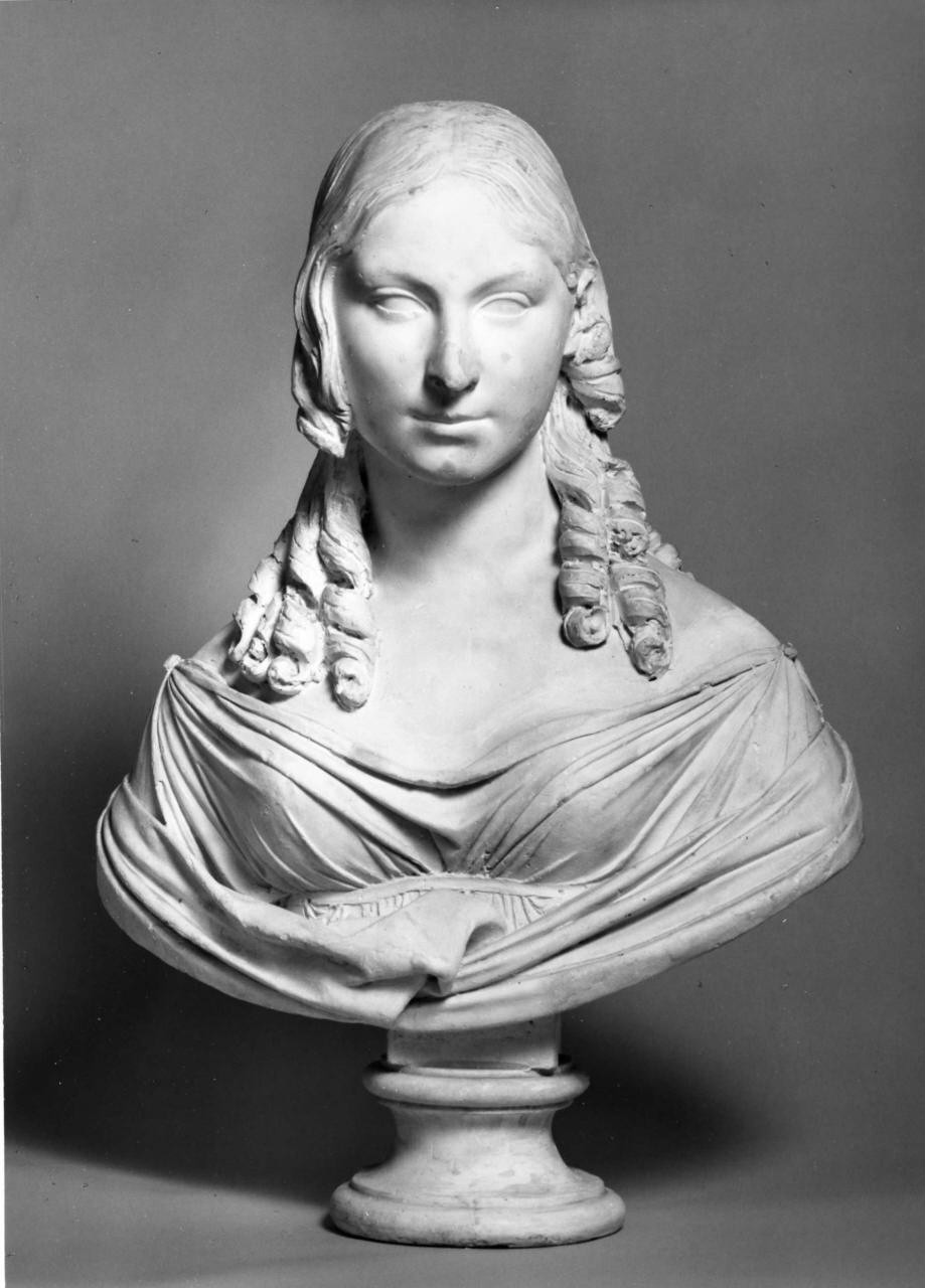 Lorenzo Bartolini, Busto-ritratto di Teresa Gamba Guiccioli, modello in gesso (1821; gesso, altezza 70 cm; Prato, Museo Civico di Palazzo Pretorio)