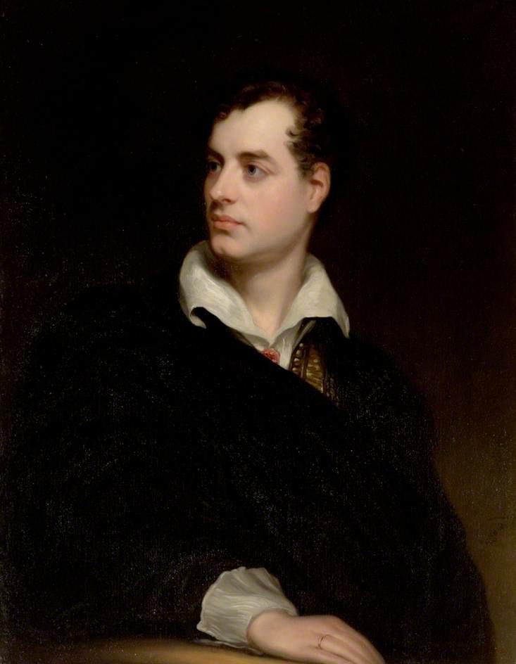 Thomas Phillips, Ritratto di Lord Byron (1813; olio su tela, 91 x 71 cm; Newstead, Newstead Abbey)