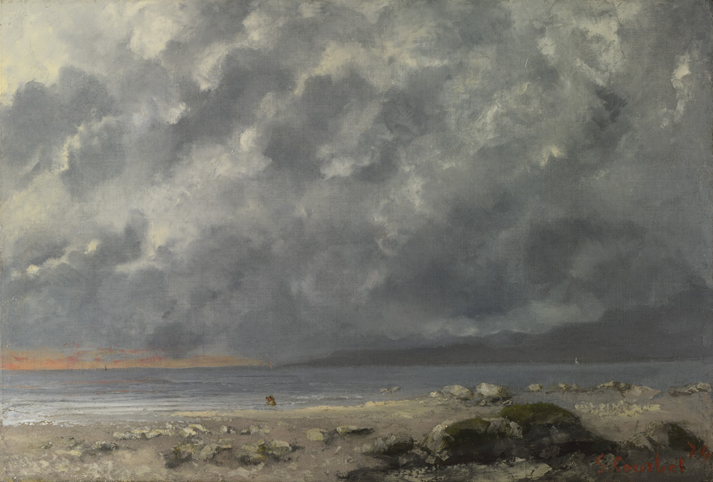 Gustave Courbet, Lago Lemano sotto un cielo nuvoloso (1874; olio su tela, 38 x 55,5 cm; Londra, National Gallery)