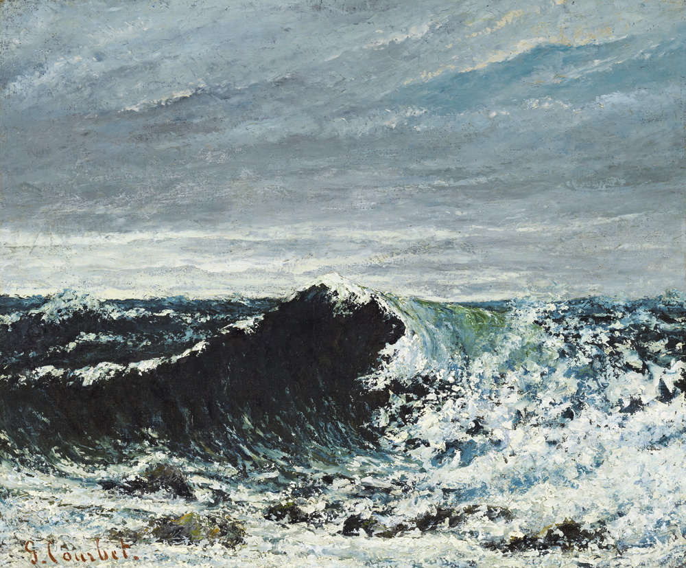 Gustave Courbet, L'onda (1869 circa; olio su tela, 46 x 55 cm; Edimburgo, National Galleries of Scotland)