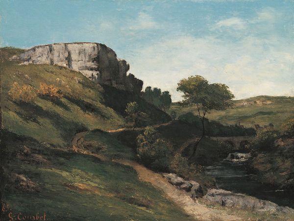 Gustave Courbet, Paesaggio nei pressi di Maisières (1865; olio su tela, 50 x 65 cm; Monaco di Baviera, Neue Pinakothek)