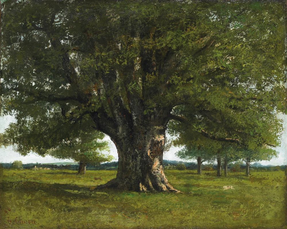 Gustave Courbet, La quercia di Flagey (1864; olio su tela, 89 x 111,5 cm; Ornans, Musée départemental Gustave Courbet)