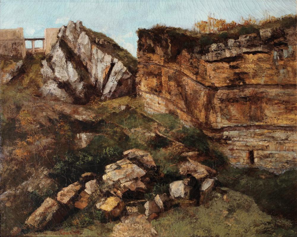 Gustave Courbet, Roccia sgretolata, studio geologico (1864; olio su tela, 59,7 x 73 cm; Salins-les-Bains, Grande Saline)