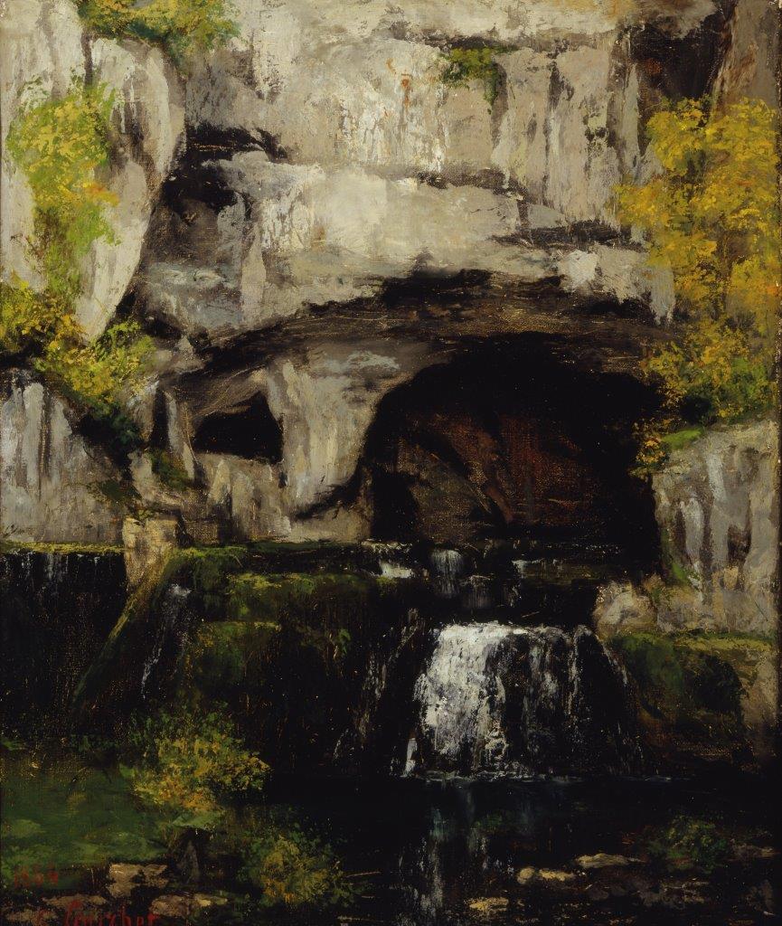 Gustave Courbet, La sorgente del Lison (1864; olio su tela, 54 x 45 cm; Collezione privata)