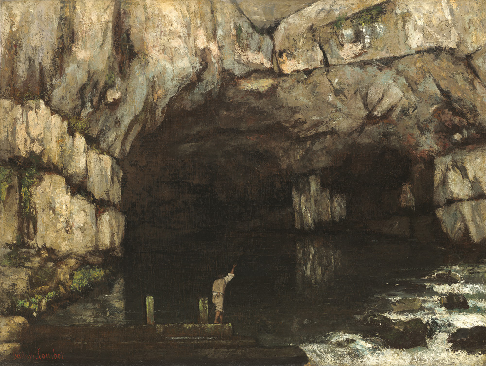 Gustave Courbet, La sorgente della Loue (1864; olio su tela, 98,4 x 130,4 cm; Washington, National Gallery)