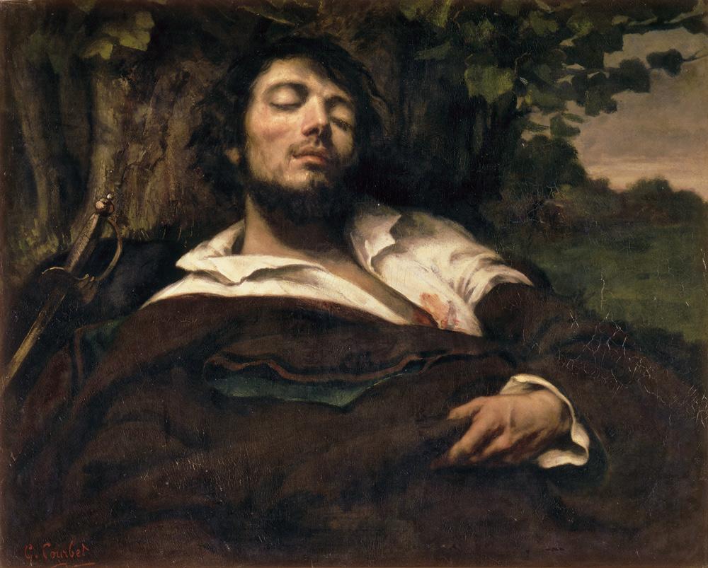 Gustave Courbet, L'uomo ferito (1844-1854; olio su tela, 81,5 x 97,5 cm; Parigi, Musée d'Orsay)