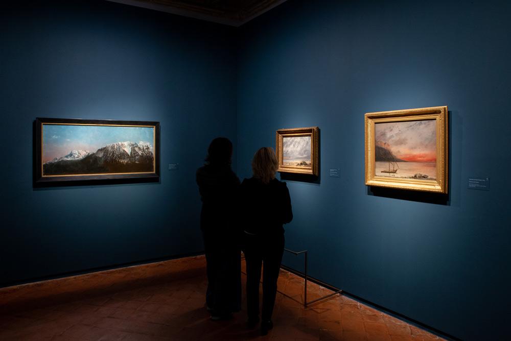 Una sala della mostra Courbet e la natura
