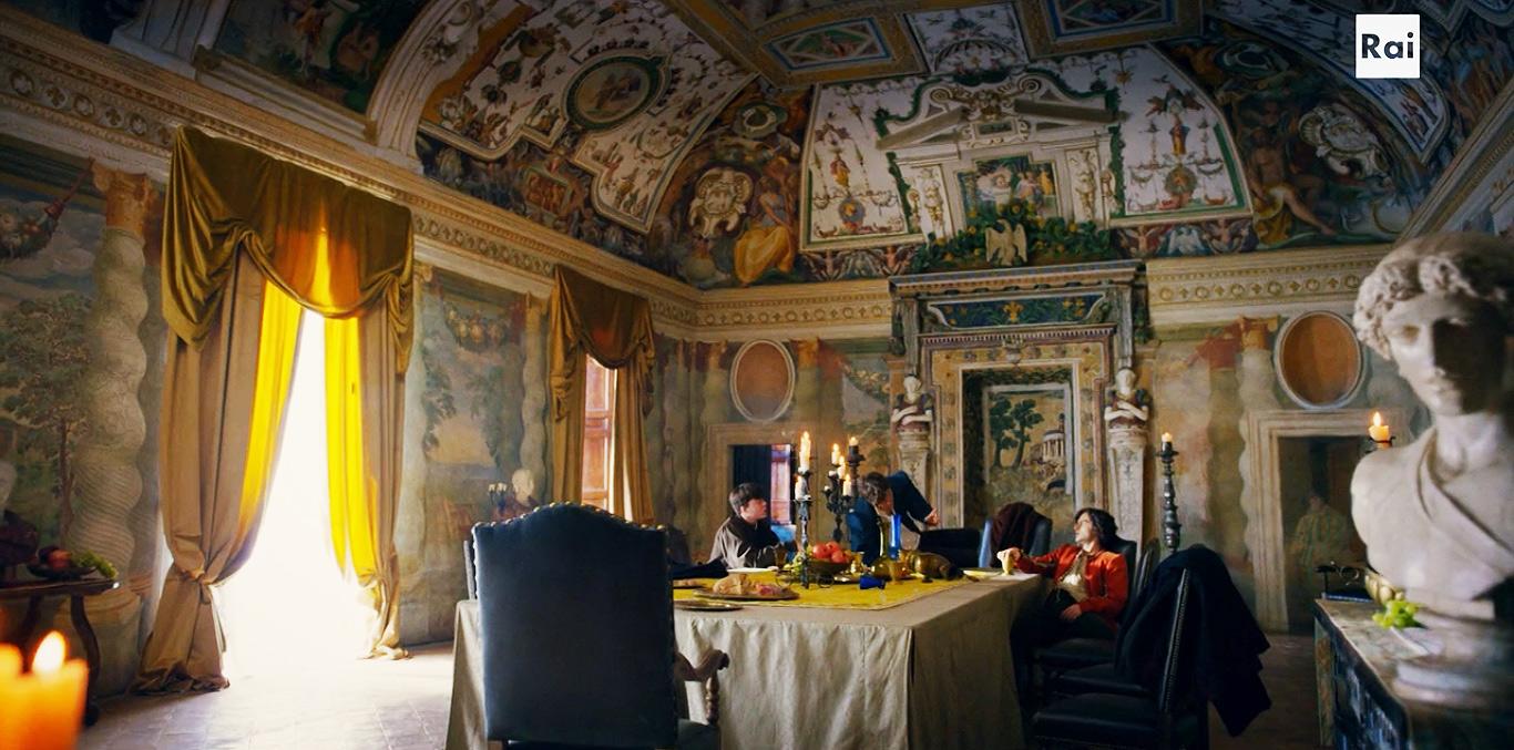Fiction: il salone del Palazzo dei Medici (Firenze)