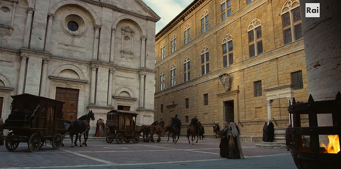 Fiction: la facciata del Palazzo dei Medici (Firenze)