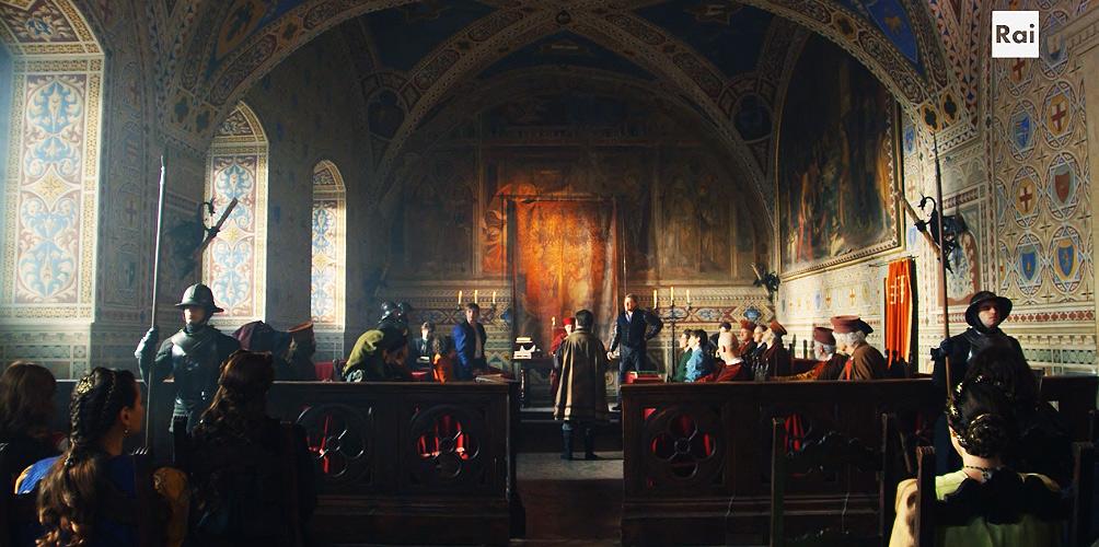 Fiction: la Sala dei Duecento di Palazzo Vecchio (Firenze)