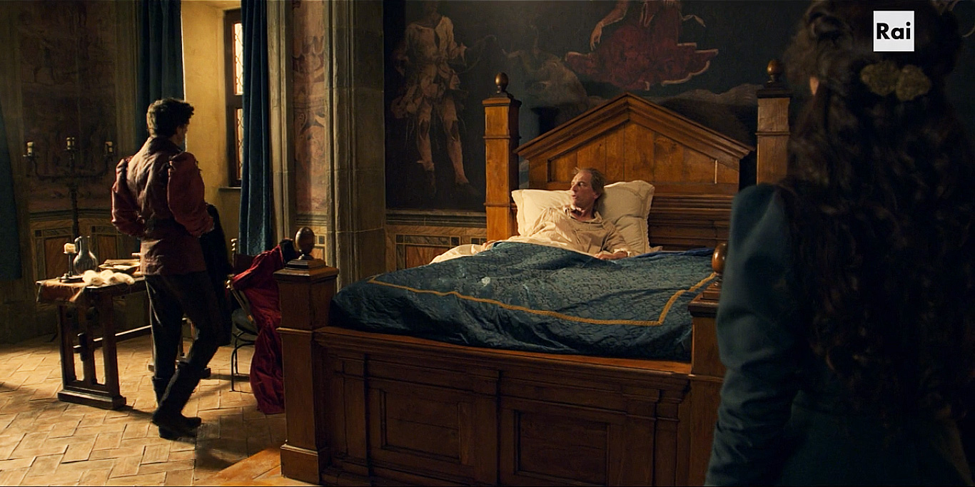 Fiction: la camera di Piero de' Medici nel palazzo di famiglia (Firenze)