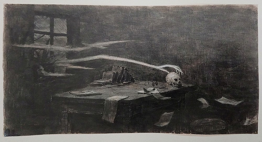 Jaroslav Panuška, Nokturno (1897; china su carta, 15 x 300 mm; Praga, Patrik Šimon's Collection)